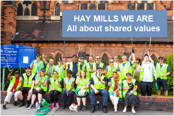 Introducing Hay Mills We Are - a community of Shared Values